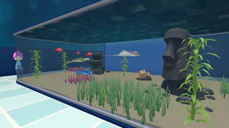 """""""Megaquarium"""", der Parkaufbau mit Fischen"""