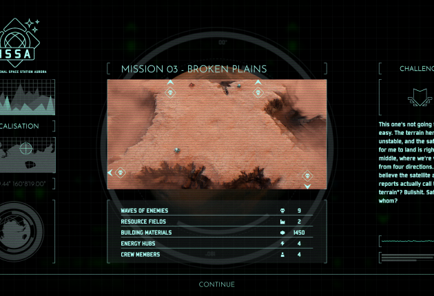 In den Missionsbeschreibungen werden die Zombiewellen und verfügbaren Ressourcen angekündigt.