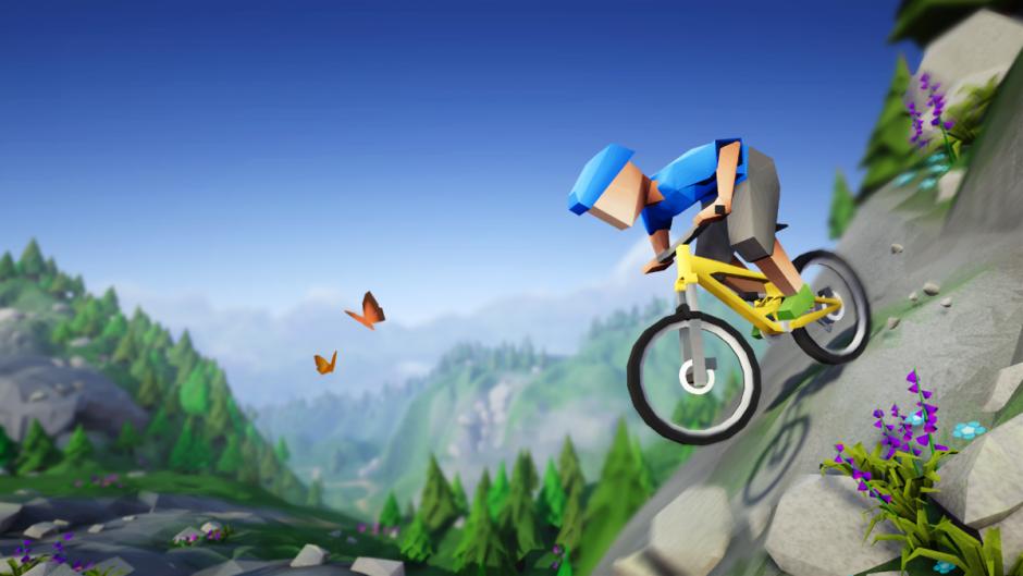 Lonely Mountains: Downhill im Test (PS4): Zwischen Bike, Berg und Böschung