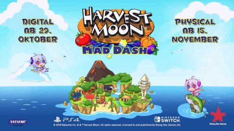 Launch-Trailer zu Harvest Moon: Mad Dash verrät Release-Datum