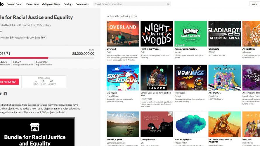 Anti-Rassismus-Bundle: Hier bekommt ihr 1000 Indie Games für nur 5 Euro