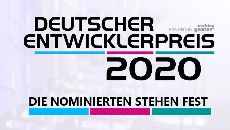 Deutscher Entwicklerpreis 2020: Das sind die Nominierten